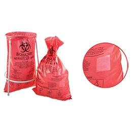 Пакети для автоклавування BIOHAZARD червоні