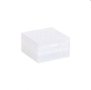 Cryo Boxes, PP, natural, grid 9 x 9, 133 x 133 x 52 mm