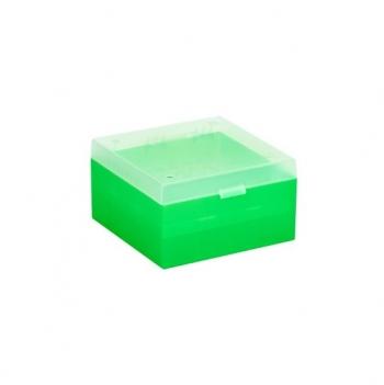 Cryo Boxes, PP, green, grid 9 x 9, 133 x 133 x 52 mm