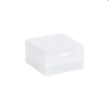Cryo Boxes, PP, natural, grid 9 x 9, 133 x 133 x 75 mm