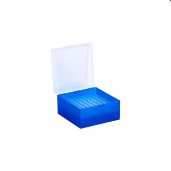 Cryo Boxes, PP, blue, grid 9 x 9, 133 x 133 x 75 mm