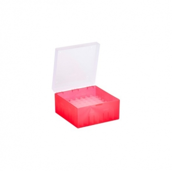 Cryo Boxes, PP, red, without grid, 133 x 133 x 52 mm