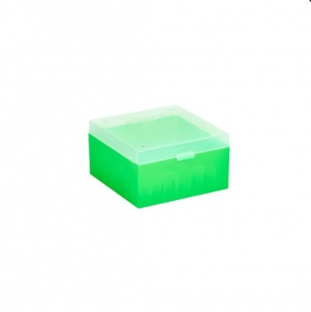 Cryo Boxes, PP, green, without grid, 133 x 133 x 52 mm
