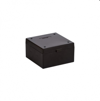 Cryo Boxes, PP, black, without grid, 133 x 133 x 52 mm
