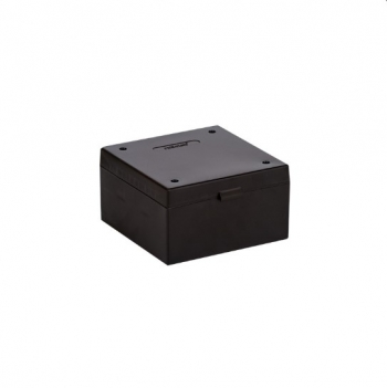 Cryo Boxes, PP, black, without grid, 133 x 133 x 75 mm
