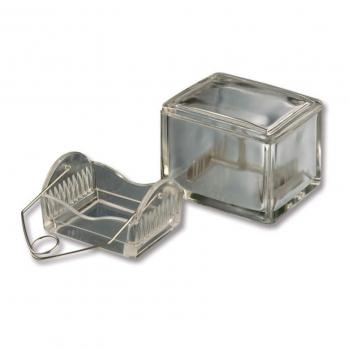Скляна посудина для фарбування з люком, підставка для набору