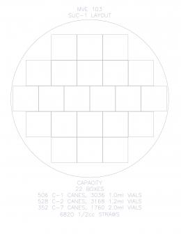 Контейнер для зберігання зразків у рідкому азоті SUC-1