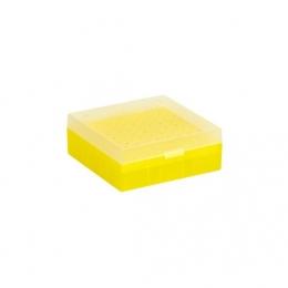 Cryo Boxes, PP, yellow, grid 9 x 9, 133 x 133 x 52 mm