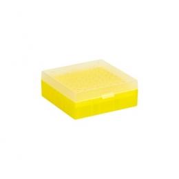 Cryo Boxes, PP, yellow, grid 9 x 9, 133 x 133 x 75 mm