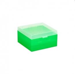 Cryo Boxes, PP, green, grid 9 x 9, 133 x 133 x 75 mm