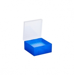Cryo Boxes, PP, blue, without grid, 133 x 133 x 52 mm