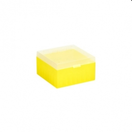 Cryo Boxes, PP, yellow, without grid, 133 x 133 x 75 mm