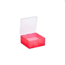 Cryo Boxes, PP, red, without grid, 133 x 133 x 75 mm