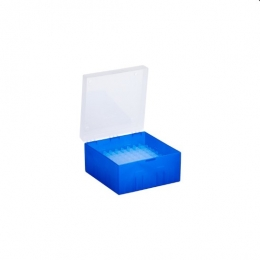 Cryo Boxes, PP, blue, without grid, 133 x 133 x 75 mm