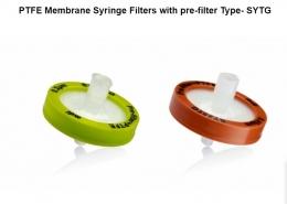 Фільтр шприцевий гідрофобний, корпус із поліпропілену, тип SYTG