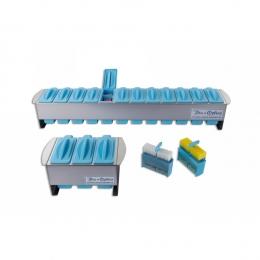 Набір для фарбування слайдів, стелаж із пластиковою ручкою для 25 слайдів (6 шт)