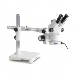 Стереомікроскоп KERN OZM 902, бінокуляр, з універсальною підставкою ECO і підсвічуванням для вашого робочого місця