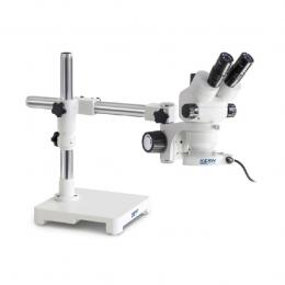 Стереомікроскоп KERN OZM 903, тринокуляр, з універсальною підставкою ECO і підсвічуванням для вашого робочого місця