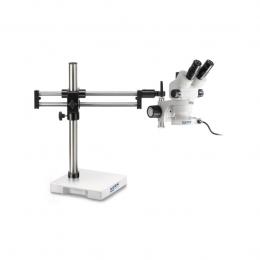 Стереомікроскоп KERN OZM 933UK, тринокуляр, з шарикопідшипниковим подвійним кронштейном і круговим підсвічуванням