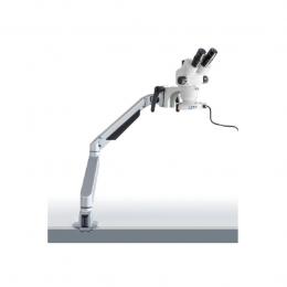 Стереомікроскоп KERN OZM-983, тринокуляр, з пружинним кронштейном і круговим підсвічуванням